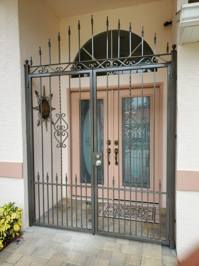 Front security iron gate