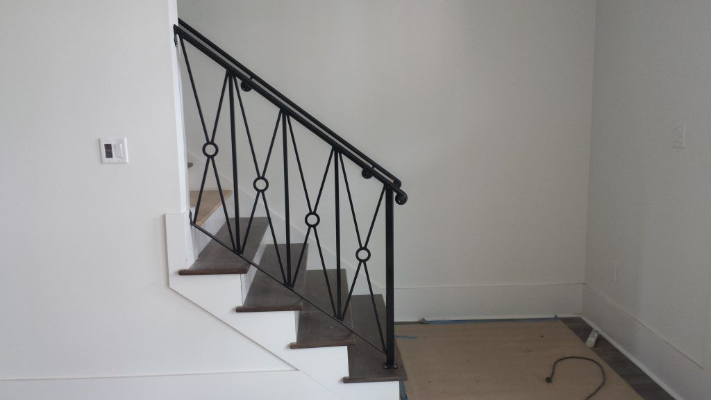 stair brought iron railing